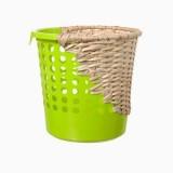 藤条废弃桶重组创意垃圾桶更环保