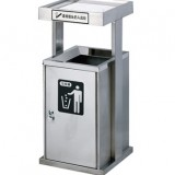 不锈钢户外带烟灰缸垃圾桶