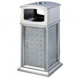 不锈钢户外古典门钉式垃圾桶