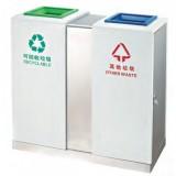 不锈钢车站分类垃圾桶
