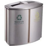 室内商用不锈钢商业分类垃圾桶