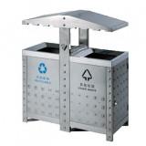 不锈钢户外分类环保垃圾桶