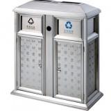 不锈钢户外景区分类垃圾桶