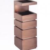 立体古铜钛金垃圾桶