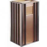 方形豪华钛金垃圾桶