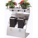 带花盆分类钛金垃圾桶