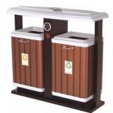 街道分类钢木垃圾桶