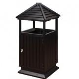 古典古塔式钢木垃圾桶