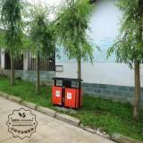 深圳户外分类钢木垃圾桶生产厂家