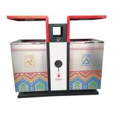 创意UV打印户外分类不锈钢垃圾桶