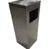 新款电镀室内方形不锈钢垃圾桶
