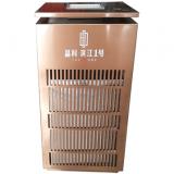 电镀玫瑰金镂空室内方形不锈钢垃圾桶