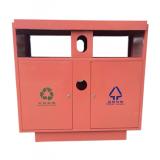 喷塑户外双分类不锈钢垃圾桶
