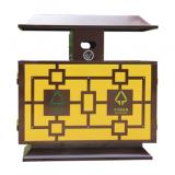 景区物业户外冷轧钢分类钢制垃圾箱