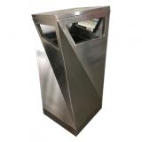 户外方形不锈钢果皮箱垃圾桶