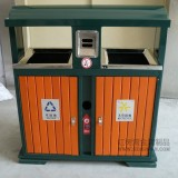珠海公园景区环保钢木垃圾桶使用案例