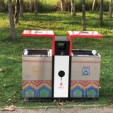 公园环卫户外分类不锈钢垃圾桶厂