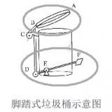 红树湾金属制品厂不锈钢脚踏式垃圾桶原理
