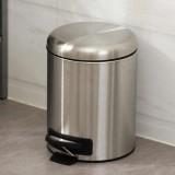 静音家用不锈钢小型脚踏式垃圾桶