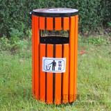 广州欢乐世界实木钢木垃圾桶采购案例