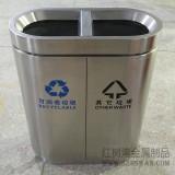 广州万达广场采购室内分类不锈钢垃圾桶案例