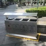 深圳地铁物业选购户外四分类不锈钢垃圾桶