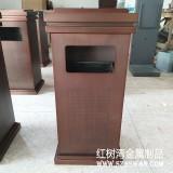 深圳美的院子定制电镀方形不锈钢垃圾桶产品