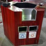 珠海湾仔街道大型户外分类钢木垃圾桶采购案例