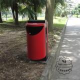 校园怎样清理不锈钢垃圾回收箱