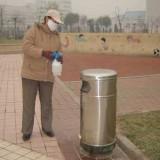 室内户外不锈钢垃圾箱怎么消毒?