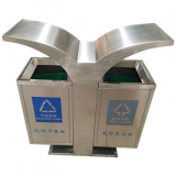 创意市政街道分类不锈钢垃圾箱