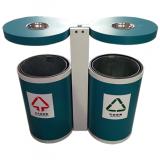 户外喷塑圆形分类不锈钢垃圾桶