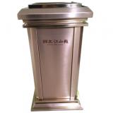 电镀玫瑰金室内方形不锈钢垃圾桶