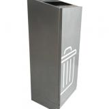 带轨道高档室内方形不锈钢垃圾桶