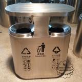 广西南宁市政户外分类不锈钢垃圾桶订购案例