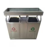 绿化养花容器花盆不锈钢分类垃圾桶