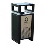 户外镂空喷塑方形钢板垃圾桶