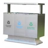 出口户外三分类不锈钢垃圾箱