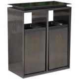 电梯口两分类不锈钢果皮箱