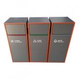 户外三分类组合式不锈钢垃圾箱