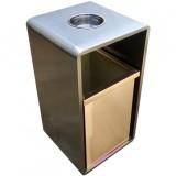 室内电梯口方形钢制果皮箱