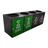 直投口小区304不锈钢分类垃圾桶