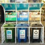 户外小区简约三分类垃圾亭