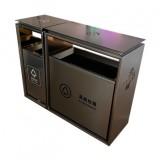 商场组合抽拉不锈钢分类垃圾桶