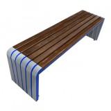 户外园林钢木休息等候椅