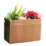户外拉丝玫瑰金不锈钢花箱