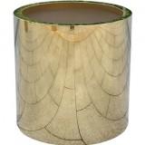 不锈钢镜面钛金花筒花钵