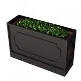 咖啡店长方形黑色喷塑不锈钢花箱