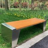 公园景区塑木公共休闲座椅