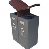 户外翼形喷塑不锈钢分类垃圾箱